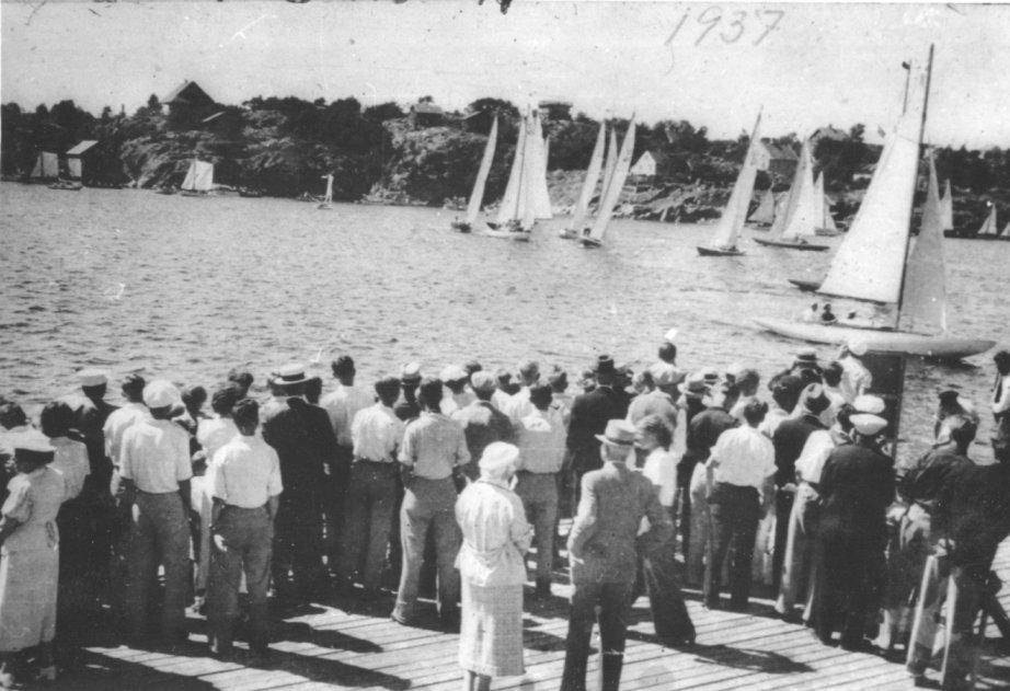 Start på byfjorden 18. juli 1937